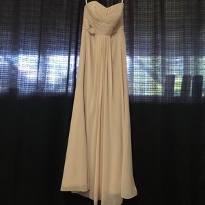 David's Bridal champagne dress